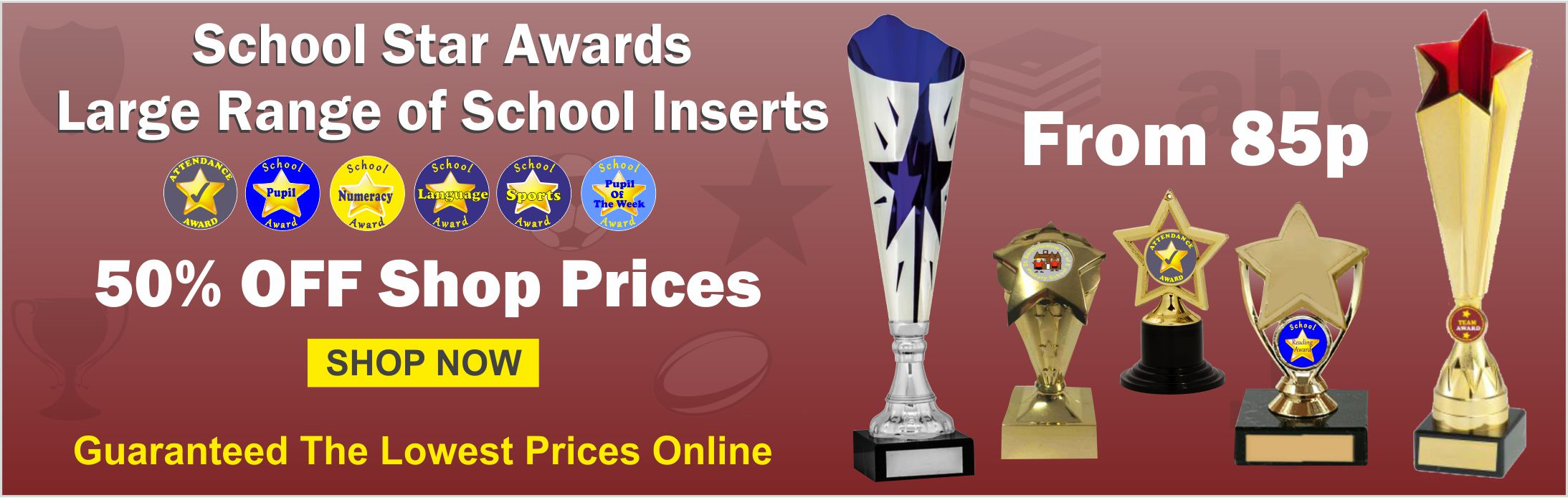 Massive range of School Trophies & Awards